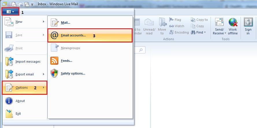 Windows Live Mail IMAP Setup Instructions